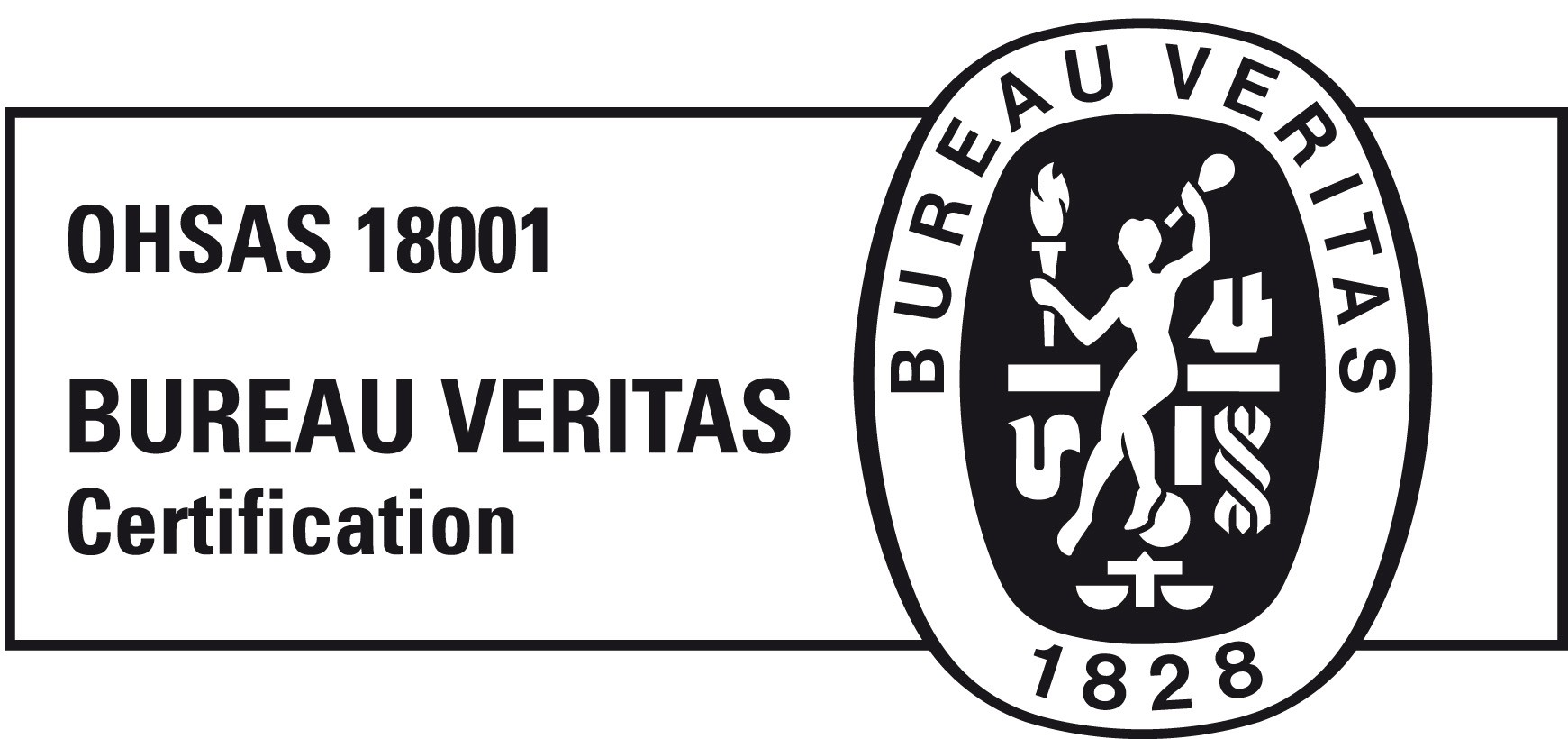 3. Logos ISOOHSAS 18001ALTA RESOLUCIONBlack White versionBV Certification NB OHSAS18001